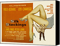 Charisse Canvas Prints - Silk Stockings, Fred Astaire, Cyd Canvas Print by Everett