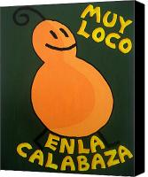 Great Painting Canvas Prints - Silly Squash Canvas Print by Oliver Johnston