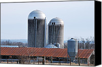Michele Carter Canvas Prints - Silo Canvas Print by Michele Carter