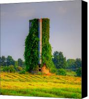 Stormy Mixed Media Canvas Prints - Silo Canvas Print by Robert Pearson