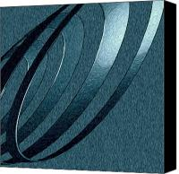 Kevin Sherf Canvas Prints - Silver Coil of Happy Canvas Print by Kevin  Sherf