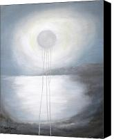 Silver Moonlight Canvas Prints - Silver moon Canvas Print by Anne Thomassen