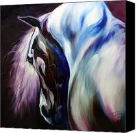 Baldwin Canvas Prints - Silver Shadows Equine Canvas Print by Marcia Baldwin