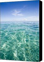 Water Art Canvas Prints - Simple Ocean Landscape Canvas Print by Monica & Michael Sweet - Printscapes