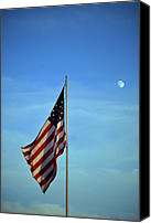 Flag Pole Canvas Prints - Simple Patriotism Canvas Print by Skip Willits