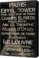 Notre Dame Canvas Prints - Simple Speak Paris Canvas Print by Grace Pullen
