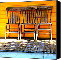 Chairs Canvas Prints - Simpler Times Canvas Print by Carol Groenen