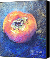 Still Life Pastels Canvas Prints - Simply Persimmon Canvas Print by Pamela Pretty