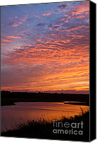 Simpsons Canvas Prints - Simpson Creek Sunset 2 Canvas Print by Dawna  Moore Photography