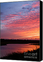 Simpsons Canvas Prints - Simpson Creek Sunset Canvas Print by Dawna  Moore Photography