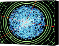 Simulation Canvas Prints - Simulation Of Higgs Boson Production Canvas Print by David Parker