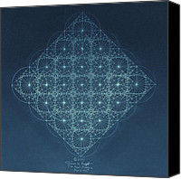 Energy Drawings Canvas Prints - Sine Cosine and Tangent Waves Canvas Print by Jason Padgett