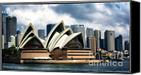 Sydney Skyline Canvas Prints - Sing Softly Canvas Print by Joan Carroll