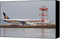 Airways Canvas Prints - Singapore Airlines Jet Airplane At San Francisco International Airport SFO . 7D12140 Canvas Print by Wingsdomain Art and Photography