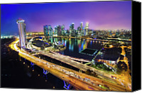 Road Travel Canvas Prints - Singapore Flyer Canvas Print by You can view more of my images at www.on9cloud.com