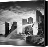 Nina Photo Canvas Prints - Singapore Harbour Canvas Print by Nina Papiorek