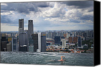 Sports Canvas Prints - Singapore Swimmer Canvas Print by Nina Papiorek