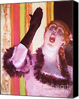Singer Painting Canvas Prints - Singer with the Glove Canvas Print by Pg Reproductions