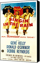Postv Photo Canvas Prints - Singin In The Rain, Gene Kelly, Debbie Canvas Print by Everett