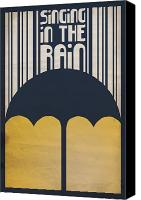 Kelly Digital Art Canvas Prints - Singin in the Rain Canvas Print by Megan Romo