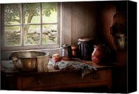 Tea Party Photo Canvas Prints - Sink - The morning chores Canvas Print by Mike Savad
