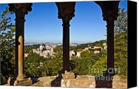Village Canvas Prints - Sintra Balcony Canvas Print by Carlos Caetano