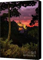 Ancient Canvas Prints - Sintra Palace Canvas Print by Carlos Caetano