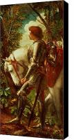 Knights Canvas Prints - Sir Galahad Canvas Print by George Frederic Watts