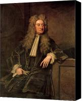 Isaac Canvas Prints - Sir Isaac Newton  Canvas Print by Sir Godfrey Kneller