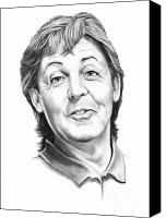 Paul Drawings Canvas Prints - Sir Paul McCartney Canvas Print by Murphy Elliott