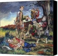 Injured Canvas Prints - Sir Philip Sidney at The Battle of Zutphen Canvas Print by Ron Embleton