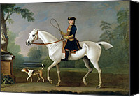 Beagle Canvas Prints - Sir Roger Burgoyne Riding Badger Canvas Print by James Seymour
