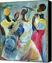 African American Female Canvas Prints - Sister Act Canvas Print by Ikahl Beckford