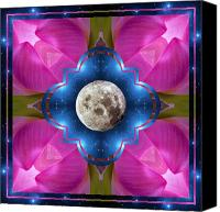Starry Canvas Prints - Sister Moon Canvas Print by Bell And Todd