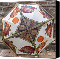 Michaelangelo Canvas Prints - Sistine Chapel Umbrella Canvas Print by Joy Tudor