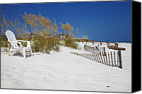 Beach Photograph Canvas Prints - Sit and enjoy Canvas Print by Toni Hopper