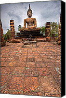 Wonderful Canvas Prints - Sitting Buddha Canvas Print by Adrian Evans