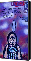 Sit-ins Canvas Prints - Sitting Bull...Land Canvas Print by Tony B Conscious