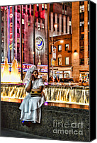 Woman In Water Photo Canvas Prints - Sitting by the water -  NYC Canvas Print by Paul Ward