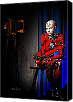 Photography Studio Canvas Prints - Sitting For The Camera Canvas Print by Bob Orsillo