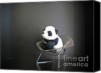 Baby Panda Canvas Prints - Sitting meditation. Floyd from Travelling Pandas series. Canvas Print by Ausra Paulauskaite