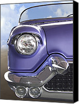 Purple Car Canvas Prints - Sitting Pretty Canvas Print by Mike McGlothlen