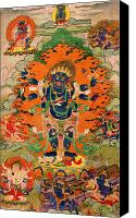 Tibetan Buddhism Photo Canvas Prints - Six Armed Mahakala 11 Canvas Print by Lanjee Chee
