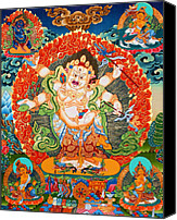 Tibetan Buddhism Photo Canvas Prints - Six Armed Mahakala  5 Canvas Print by Lanjee Chee