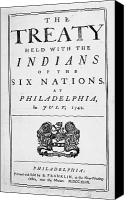 Coat Of Arms Canvas Prints - Six Nations Treaty, 1742 Canvas Print by Granger