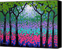 Treescape Canvas Prints - Six Trees Canvas Print by John  Nolan