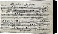 Flagg Canvas Prints - Sixteen Anthems Music, 1766 Canvas Print by Granger