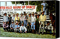 American Pastime Canvas Prints - Skeeter Bills Round Up Canvas Print by Tom Roderick