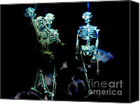 Ribs Canvas Prints - Skeleton art Jealousy Canvas Print by Rebecca Margraf