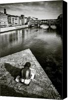 Florence Canvas Prints - Sketching Canvas Print by David Bowman